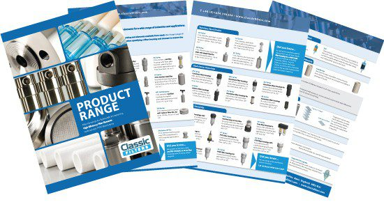 Classic Filters Product Range Brochure
